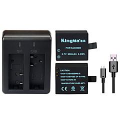Kingma sandaran bateri rechargable + dwi USB pengecas untuk sj4000 sj5000 sj6000