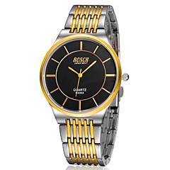 Herre Watch Quartz Selskapsklokke Rustfritt stål Band Armbåndsur
