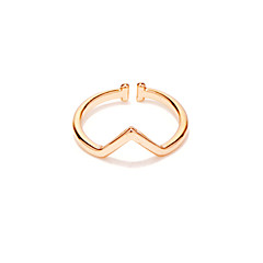Simple triangle joint ring copper ring jewelry