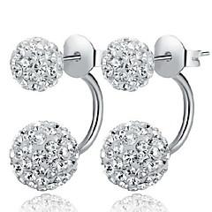 Earring Stud Earrings Jewelry Women Daily / Casual / Sports Sterling Silver / Alloy 2pcs White