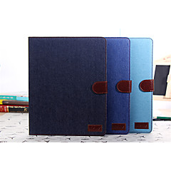 DE JI Jean Canvas Leather Case for Apple ipad 2 3 4 With Retina Display, Cowboy Stand Case for ipad 2 3 4