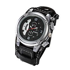 Herren Armbanduhr Japanischer Quartz Leder Band Marke-
