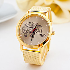 שעון זהב אופנת נשים שעונים שעוני קוורץ פיל חגורת סגסוגת