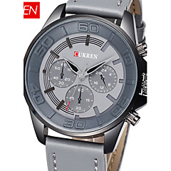 CURREN New Arrival Watch Fashion Men Quartz Watch Leather Watch Luxury Alloy Leather Band Military Watches