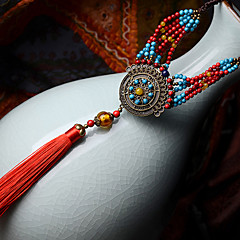 Ethnic Tassel Alloy / Agate / Stone Necklace Bohemia Classic Pendant Necklaces Party / Daily / Casual 1pc