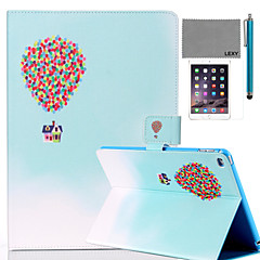 LEXY® Balloon Travel Pattern PU Leather Flip Stand Case with Screen Protector and Stylus for iPad Air 2/iPad 6
