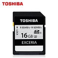 도시바 exceria 16기가바이트 SDHC 메모리 카드 고속 UHS-I의 U3 쓰기 95메가바이트 / S가 60메가바이트 읽기 / S