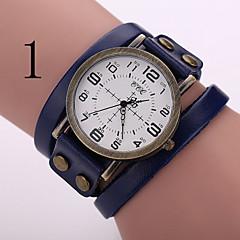 relógio de estilo retro do punk relógio pulseira de couro da mulher