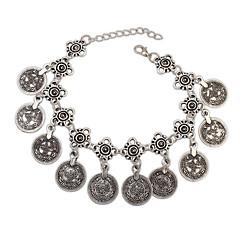 European Style Fashion Silver Medal Coin Bracelet