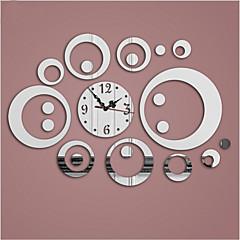 円形 コンテンポラリー 壁時計 , 家族 その他 14.96*18.50
