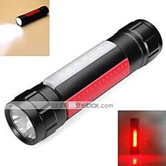 Rektangulär LED-Ficklampor 2 Läge 800 Lumen 18650 Vattentät / Laddningsbar / Stöttålig / Strike Bezel / Taktisk / Nödsituation LEDLED /