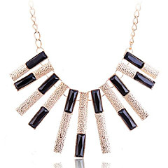 European Style Fashion Resin Drill Bar Gold Plating Necklace