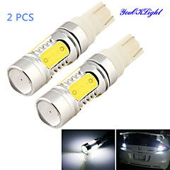 YouOKLight® 2PCS T10 11W 1000lm 5-COB LED 6000K  White Light LED Car Bulb Light (DC12-24V)