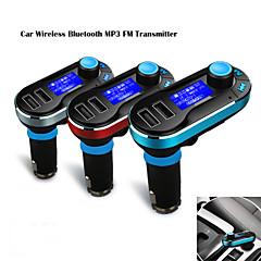 12V~24V Wireless Car MP3 Player Bluetooth FM Transmitter Car Kit with Mic, Hand Free Calling, USB SD TF Card