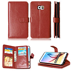 titulares carteira ranhura + dinheiro + moldura caixa do telefone de couro magnética para Samsung Galaxy S4 / S5 / S6 / s6edge / S6 borda
