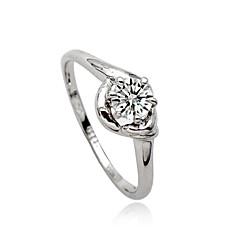 Anillos de Diseño Cristal La imitación de diamante Legierung Moda Plata Joyas Fiesta Diario Casual 1 pieza