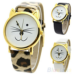 Women's Cute Cat Style Quartz Casual Watch Cool Watches Unique Watches