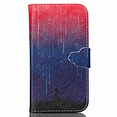 Varten Samsung Galaxy kotelo Lomapkko / Korttikotelo / Tuella / Flip Etui Kokonaan peittävä Etui Maisema Tekonahka SamsungS6 / S5 Mini /