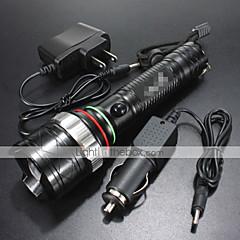 LED Taschenlampen (Wasserdicht / Wiederaufladbar / Stoßfest / Schlag-Fassung / Taktisch / Notfall) - LED 4.0 Modus 1200 Lumen18650 /