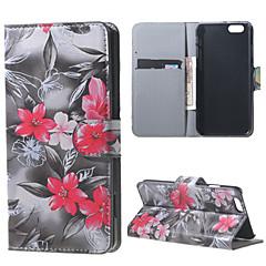 Varten iPhone 6 kotelo / iPhone 6 Plus kotelo Korttikotelo / Tuella / Flip / Kuvio Etui Kokonaan peittävä Etui Kukka Kova TekonahkaiPhone