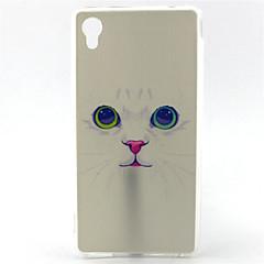 Για Θήκη Sony Με σχέδια tok Πίσω Κάλυμμα tok Γάτα Μαλακή TPU για Sony Sony Xperia M4 Aqua