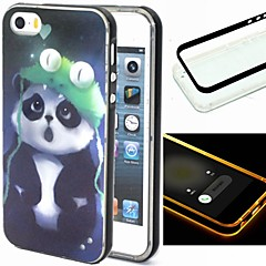 For iPhone 5 etui Blinkende LED-lys Etui Bagcover Etui Dyr Blødt TPU iPhone SE/5s/5