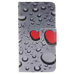 Varten Samsung Galaxy kotelo Korttikotelo / Tuella / Flip / Kuvio / Magneetti Etui Kokonaan peittävä Etui Sydän Tekonahka Samsung A5