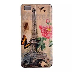 Mert Huawei tok / P9 / P9 Lite / P8 Lite Betekintő ablakkal / Flip Case Teljes védelem Case Eiffel torony Kemény Műbőr HuaweiHuawei P9 /