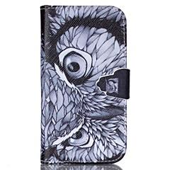 Varten Samsung Galaxy kotelo Lomapkko / Korttikotelo / Tuella / Flip Etui Kokonaan peittävä Etui Pöllö Tekonahka SamsungS6 / S5 Mini / S5