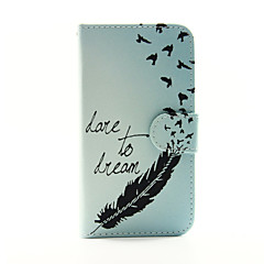 Feather Pattern PU Leather Phone Case for Samsung Galaxy S3 9300/S4 9500 /S5 9600