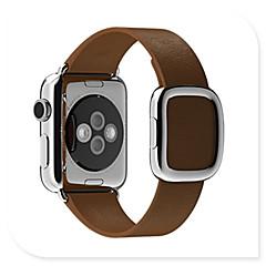 Watch band til Apple Watch moderne spænde ægte læder erstatning bandrem