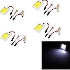 youoklight® 4kpl T10 festoon 12W 1100lm 6000K valkoinen valo johti auto lamppu valo (12v)