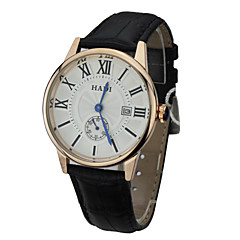 Men's Water Resistant Calendar Round Dial Leather  Band Quartz Analog Business Wrist Watch(Assorted Color) Cool Watch Unique Watch