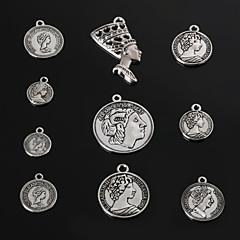 Amuletos / Colgantes Metal Round Shape Como en la foto 3-18pcs