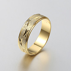 European and American fashion simple matte gold ring engraved series 4 Band Rings Wedding / Party / Daily / Casual 1pc