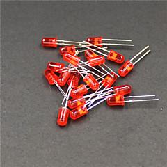 635 ~ 800 ~ 645nm 1000mcd 5 millimetri led - rosso (20 pezzi)