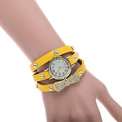 Women's Watch L.WEST Fashion Three Times Bowknot Diamonds Belt Quartz Watch Cool Watches Unique Watches