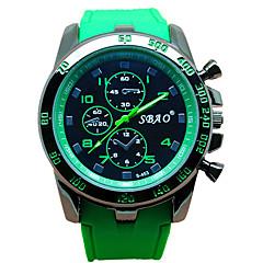 Herren Armbanduhr Quartz Silikon Band Marke-