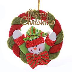 """8 """"hyvää joulua seppele joulupukki lumiukko roikkuu xmas koristelu"""