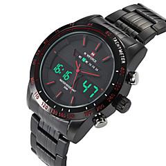 NAVIFORCE® Men's Luminous Alarm Stopwatch Dual Movement  Sports Watches Wrist Watch Cool Watch Unique Watch