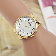 패션 손목 시계 여자와 남자 노란색 화이트 골드 시계