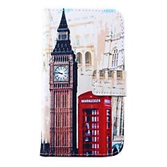 Για Samsung Galaxy Θήκη Πορτοφόλι / Θήκη καρτών / με βάση στήριξης / Ανοιγόμενη tok Πλήρης κάλυψη tok Θέα της πόλης Συνθετικό δέρμα