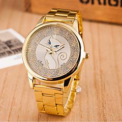 orologio da polso in acciaio bianco donna e gli uomini di moda