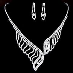 Fashion Shiny Rhinestone Necklace Earring Set Bridal Set