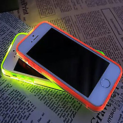 Pour Coque iPhone 7 Coques iPhone 7 Plus Coque iPhone 6 Coques iPhone 6 Plus Coque iPhone 5 Lampe LED Allumage Auto Transparente Coque