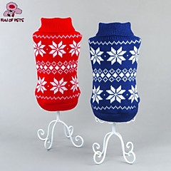 Cat / Dog Coat / Sweater Red / Blue Dog Clothes Winter Snowflake Wedding / Cosplay / Christmas / Holiday / New Year's