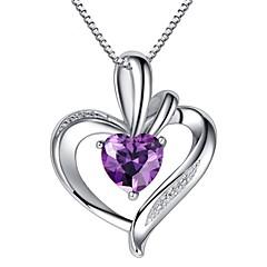 Modische Halsketten Anhängerketten Schmuck Hochzeit / Party / Alltag / Normal Sterling Silber Lavendel 1 Set Geschenk