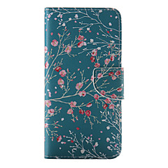 iPhone 7 Plus Red Flower Painted PU Phone Case for iPhone 6s 6 Plus SE 5s 5c 5 4s 4
