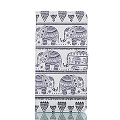 National Wind Elephant Painted PU Phone Case for Galaxy S6edge plus/S6edge/S6/S5/S5mini
