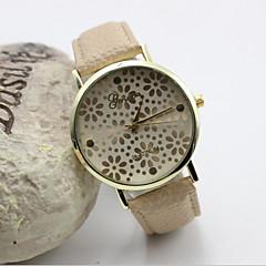 Dames Modieus horloge Kwarts Leer Band Zwart / Blauw / Roze / Beige Merk-
